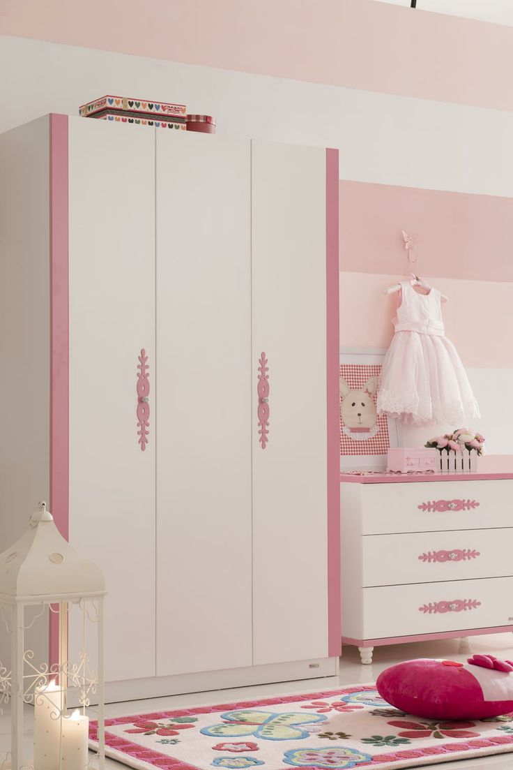 Princess wardrobe and chest of drawers
