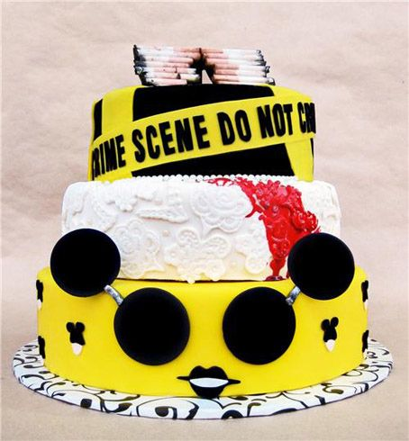 Lady Gaga cakesGaga Cake, Happy Birthday, Birthday Parties, Lady Gaga, First Birthday, Crime Scene, Food Photo, Birthday Cake