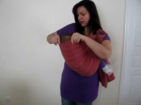 Οδηγίες με βίντεο: Πώς φοράμε μάρσιπο ring sling με το μωρό - Αστεράκι Slings