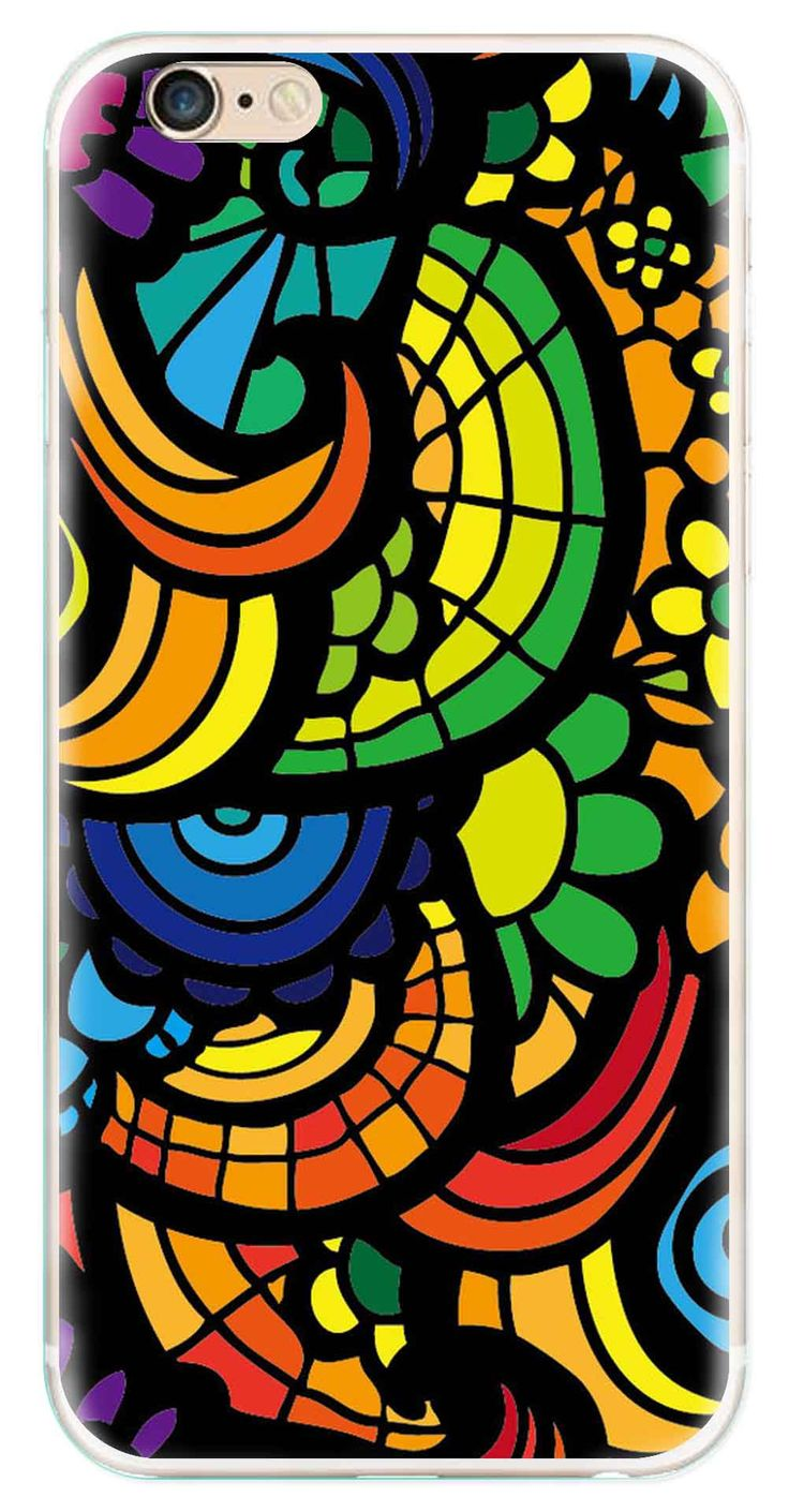Whatskin DIY Style Colored Painting Series 04 Clear Back Cover for iphone 6
