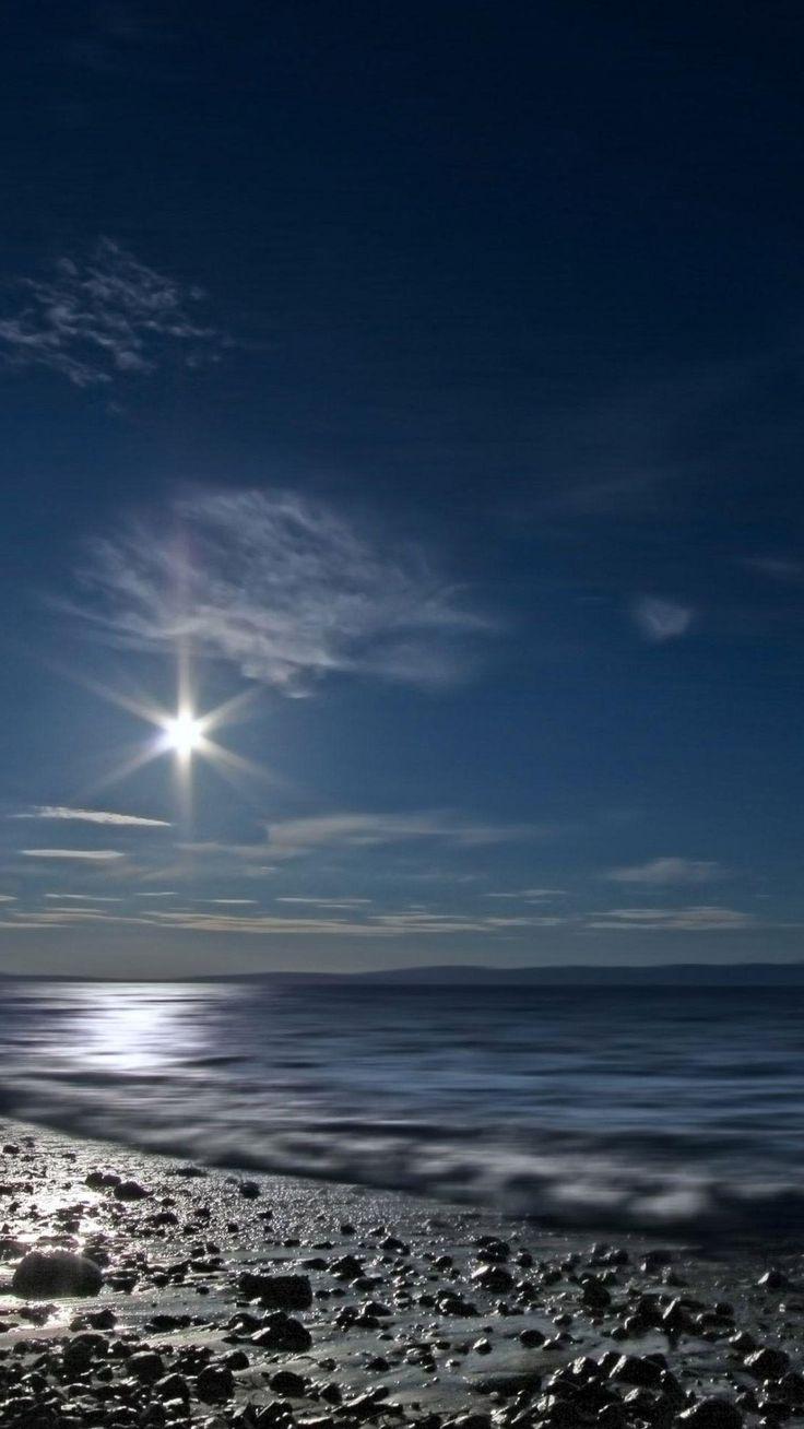 stihl iphone wallpaper. shining moon over sea iphone 6 wallpaper stihl iphone