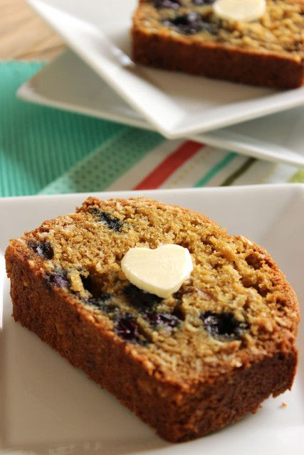 This whole wheat Blueberry Oatmeal Muffin Bread is perfect for the toaster and a great way to start your day.  | The Suburban Soapbox
