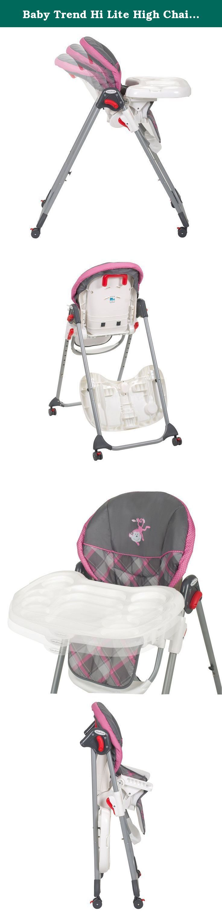 Baby Trend Hi Lite High Chair, Kira. The Baby Trend Hi-Lite High Chair offers style, safety, ease-of-use and versatility as your baby takes his or her first gulps of rice cereal and moves on to other exciting foods. Your little one is eating solid foods. What an exciting time! Your baby will be safe and comfortable during mealtime with this feature-packed Baby Trend Toddler High Chair. The Hi-Lite High Chair For Babies is easy to clean and the serving tray is dishwasher safe. The…