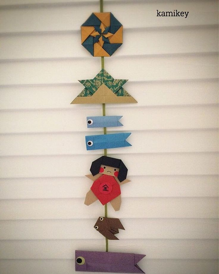 """いいね!264件、コメント10件 ― kamikey カミキィさん(@kamikey_origami)のInstagramアカウント: 「もう来週は子供の日ですね兜と蝉は伝承作品、「カペラ」「こいのぼり」「金太郎2」の折り方はYouTube"""" kamikey origami""""チャンネルにて。 ✳︎ Tutorial on…」"""