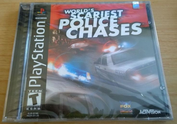 World's Scariest Police Chases DISC WORKS Sony Playstation PS1