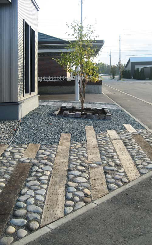 japanese entrance paving style