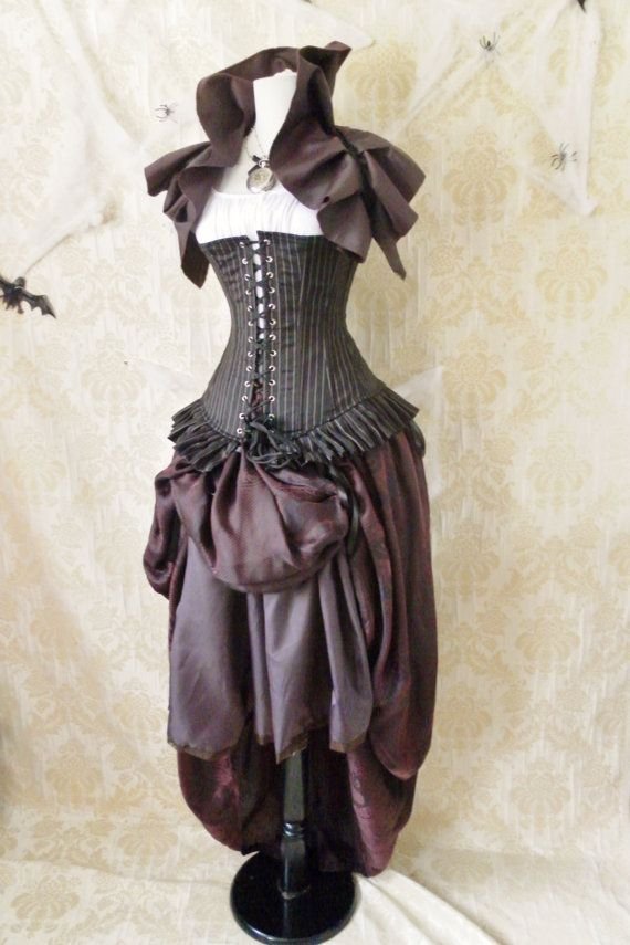 Privateer Pirate Corset Costume -Whole Outfit-For A 28-30 Inch Natural Waist-READY TO SHIP. $259.00, via Etsy.