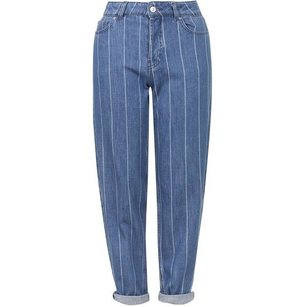 TopShop Moto Oversized Boyfriend Jeans (€53) ❤ liked on Polyvore featuring jeans, pants, blue, blue jeans, saggy jeans, slouch jeans, boyfriend fit jeans and topshop