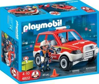 Simple PLAYMOBIL Fire Chiefs Car No One size The roof of the