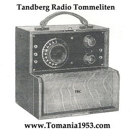 """Tandbergs Første  Radio  """"Tommeliten"""" NO.1. NUMBER ONE ! Year 1933 Tandberg Radio's First Product!"""