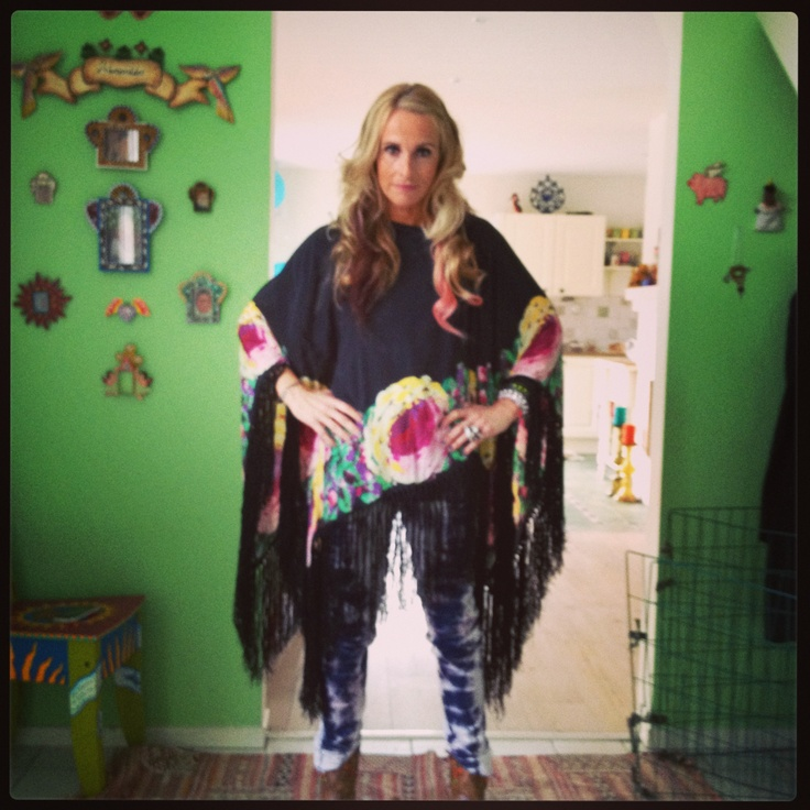 #manoush # poncho #tie dye jeans #mexicana boots