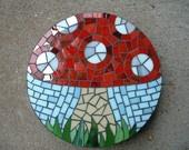 Mosaic stepping stone..cute mushroom!