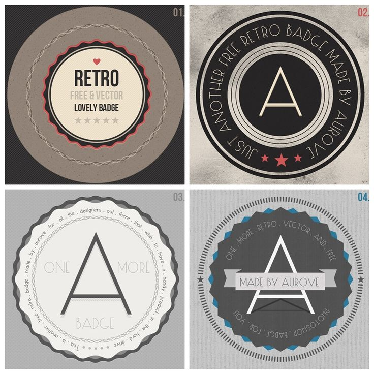 The recent retro/vintage style in various design elements has become it a trend, so here you have a pack of 4 retro/vintage badges perfect to use as CTA buttons or as promotional graphics for your website.