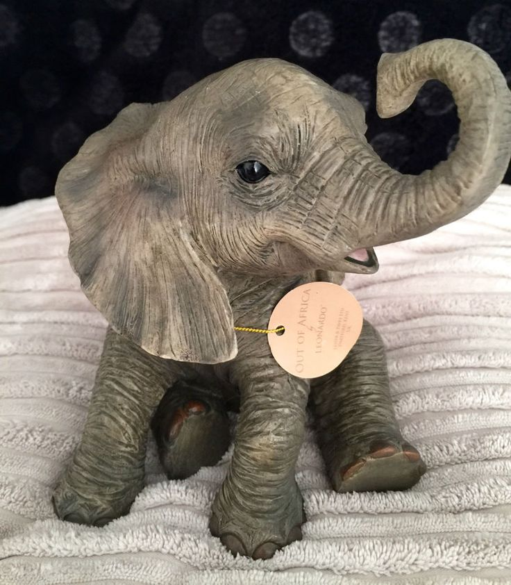 Out of Africa  Hand crafted Baby Elephant Sculpture Ornament New