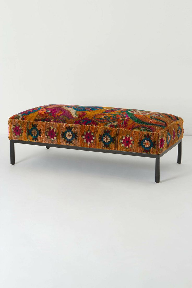 Olumes Rug Ottoman - This would look lovely in my bedroom...