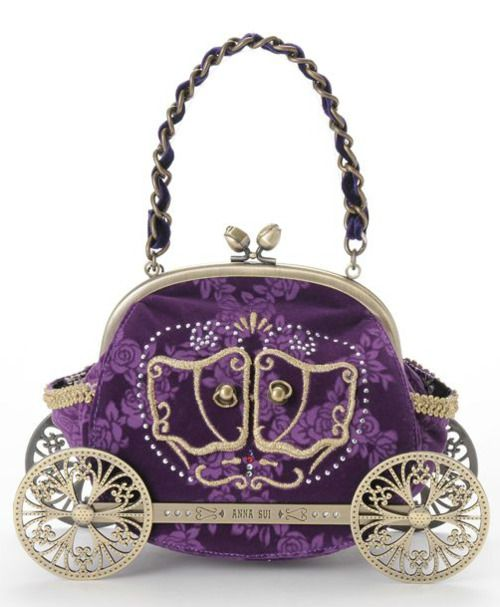 harajuju:    Anna Sui — Princess Handbag — ¥40,950  Also comes in black. A bag fitting for any Lolita, Dolly-kei, girly goth or princess at heart.   Discuss this post on the HARAJUJU.net community