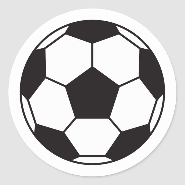 Soccer Ball Stickers With Custom Color Background Zazzle Com In 2020 Soccer Ball Soccer Soccer Banner