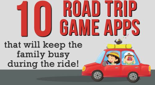 Family Road Trip?? Engage with your kids (and help the time pass quickly!) with these 10 Road Trip Game Apps!