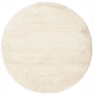 Shaggy Sadeh - Gebroken wit tapijt  Ø150