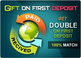 Get 100% bonus points on First deposit .You will automatically qualify for the red carpet offer when your register with playlottoworld.com as a welcome gift.doubling your winning odds.