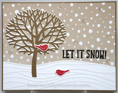 Heart's Delight Cards: Fun & Fancy Free(ks)! - Stampin' Up! - Thoughtful Branches, Snow Place