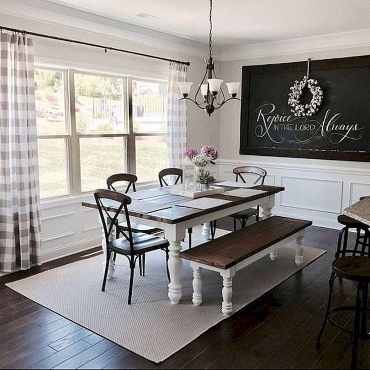 Awesome 80 Lasting Farmhouse Dining Room Decor Ideas https://insidecorate.com/80-lasting-farmhouse-dining-room-decor-ideas/