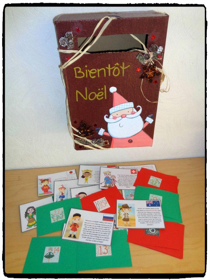 Boite aux lettres de l 39 avent enfants du monde bricolage de noel calendr - Noel enfant du monde ...
