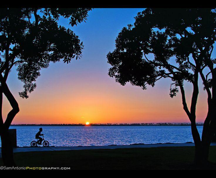 Riding until the sun goes down at Chula Vista Bayfront Park - San Diego, California