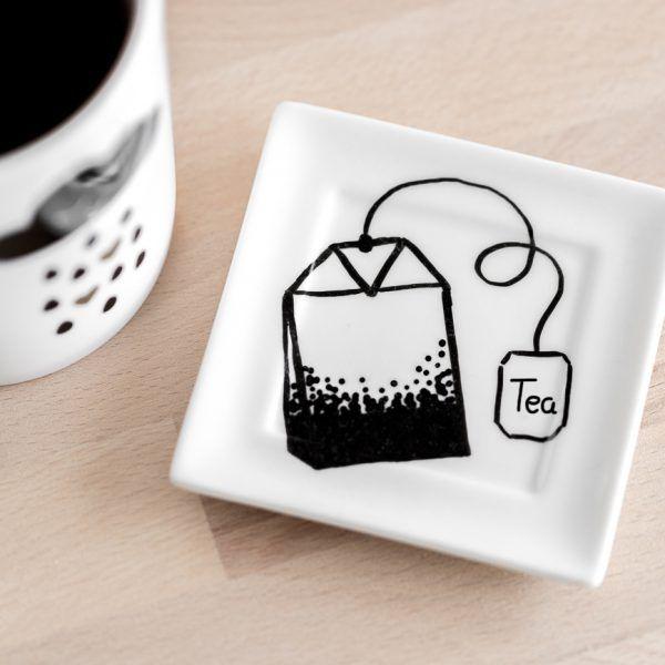 Teebeutelteller als süßes Geschenk • Onlineshop www.prettypott.de #geschenk #tee #teeliebe
