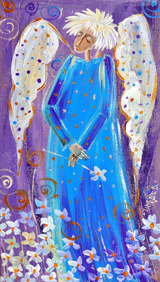 Anioł z kwiatuszkami