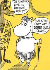 Moomin comic strip greeting card - yellow