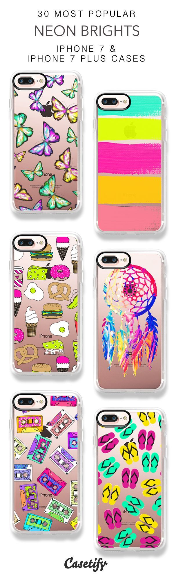 30 Most Popular Neon Brights iPhone 7 Cases and iPhone 7 Plus Cases. More Colorf...