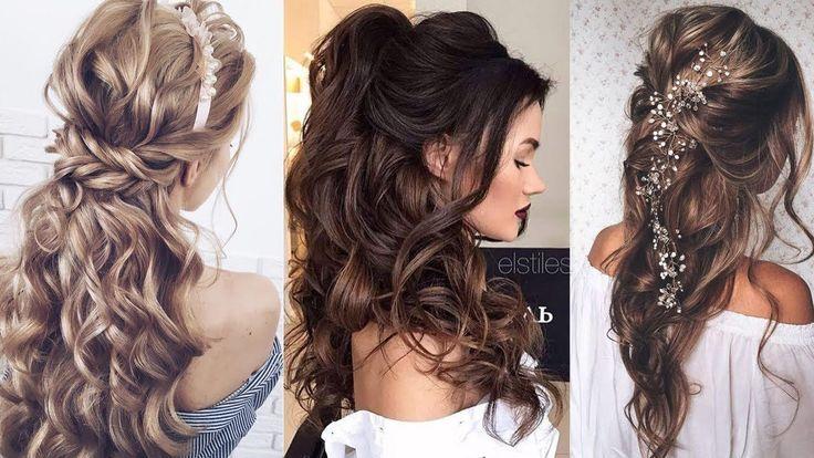 Half Up Half Down Langes Haar Hochzeitsfrisuren Hochzeitshaar – YouTube – Long Hairstyles for Wedding