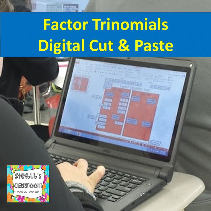 Factor Polynomials Cut and Paste {Digital Version} gives students the opportunity to categorize 31 polynomials based on binomials vs trinomials. Then students further categorize into: ♦quadratic formula ♦trinomials with a = 1 ♦trinomials with a not equal to 1 ♦perfect square trinomials ♦difference of squares ♦sum of 2 cubes ♦difference of cubes.   As a further extension, students can factor these polynomials and find the zeros.