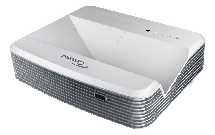 """Optoma EH320UST 1080p Ultra Short Throw Projector Bright projection – 4000 ANSI lumens Full HD 1080p resolution, 20,000:1 contrast ratio 2x HDMI input and 16W audio Crestron RoomView® – RJ45 control and monitoring  Optoma's 1080p ultra short throw projector, the EH320UST, is perfect for businesses, schools and colleges. It is bright (4,000 lumens) and a throw ratio of 0.25:1 means that it can project a 100"""" image from just 55cm away. And having the projector installed so close to the…"""