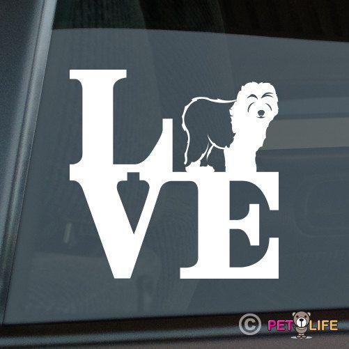 Amor antiguo perro pastor inglés Die cortar vinilo adhesivo
