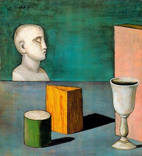 Carlo Carrà - Natura Morta Metafisica (Metaphysical Still Life), 1919.