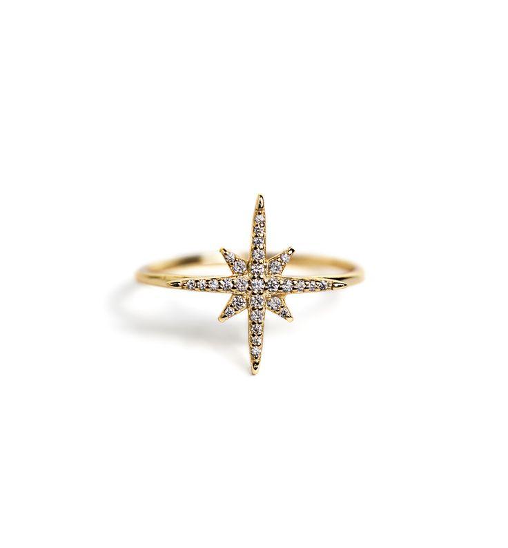 Celeste Gold Star Ring