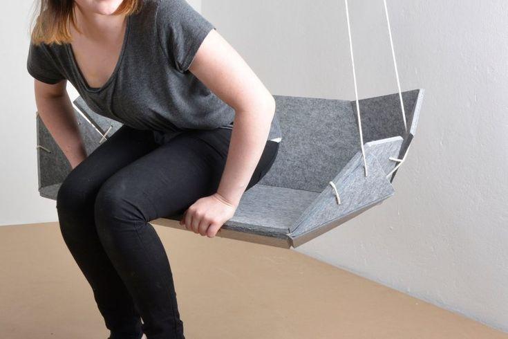 German students design flexible furniture collection using felt composite