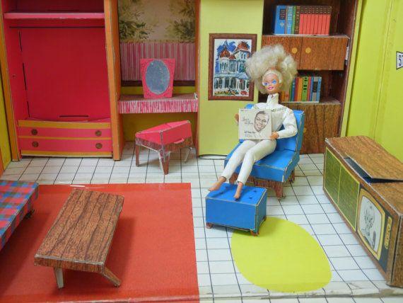 Barbie Dream House/1960's Barbie by OldSteamerTrunkJunk on Etsy