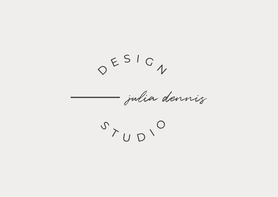 Premade Logo Design, Business Branding, Modern Logo Template, Minimalist Branding, Pre Made Template, Blogger Logo Design Vector and PNG