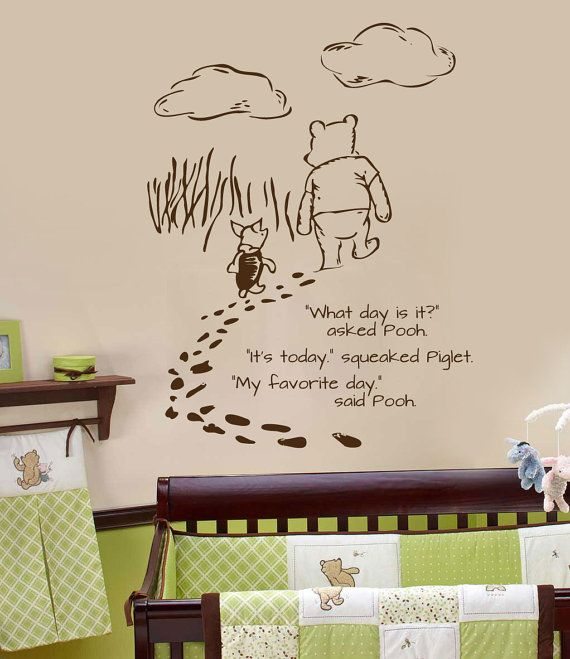 Classic pooh wall decal Foot prints by wildgreenrose on Etsy $45.00 & 38 best Wall Decals images on Pinterest | Wall decal Wall decals ...