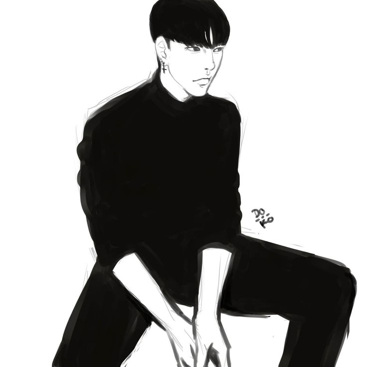 inblack by Doko #draw #illustration #koreanboy