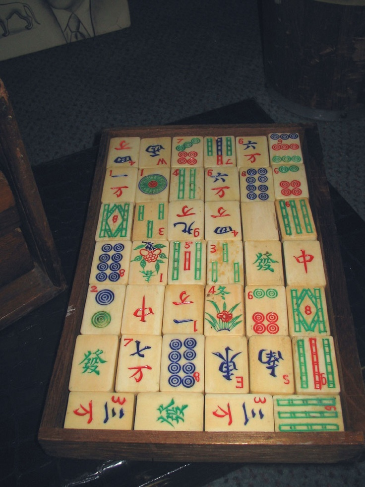Bone and Bamboo Vintage Mah Jongg tiles.