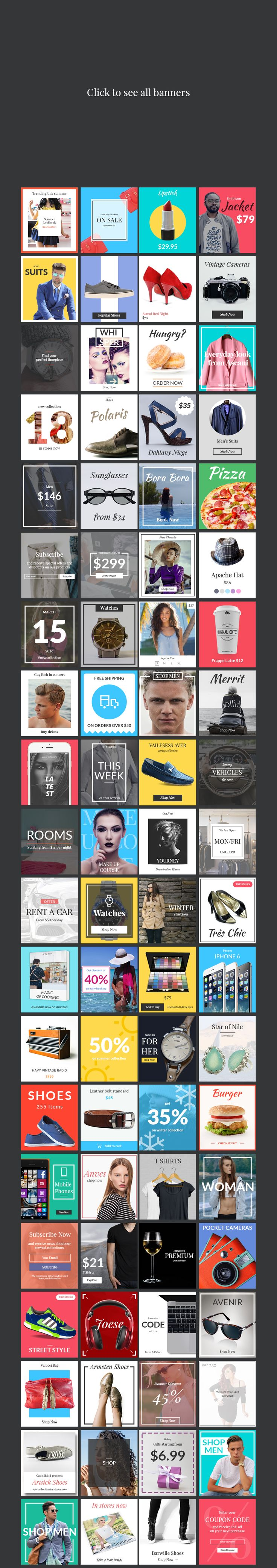 80 Banners - Shop Edition by Web Donut on @creativemarket