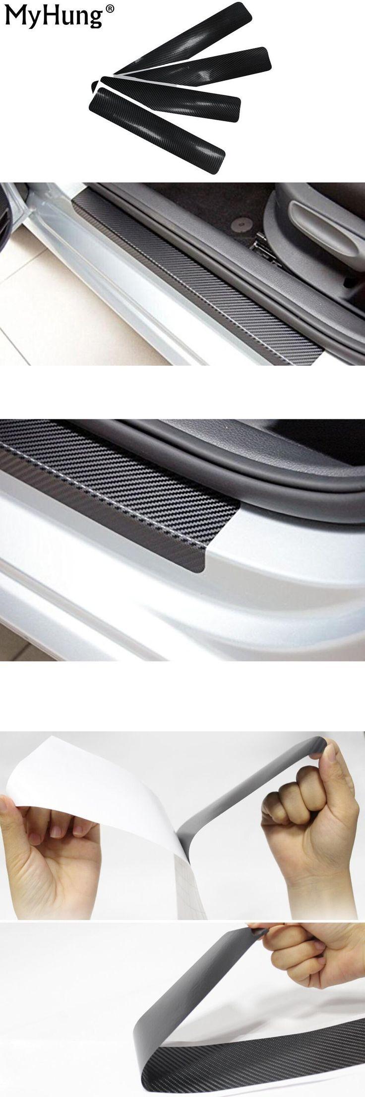 visit to buy car door sill carbon fiber vnyl sticker for ford ka fusion