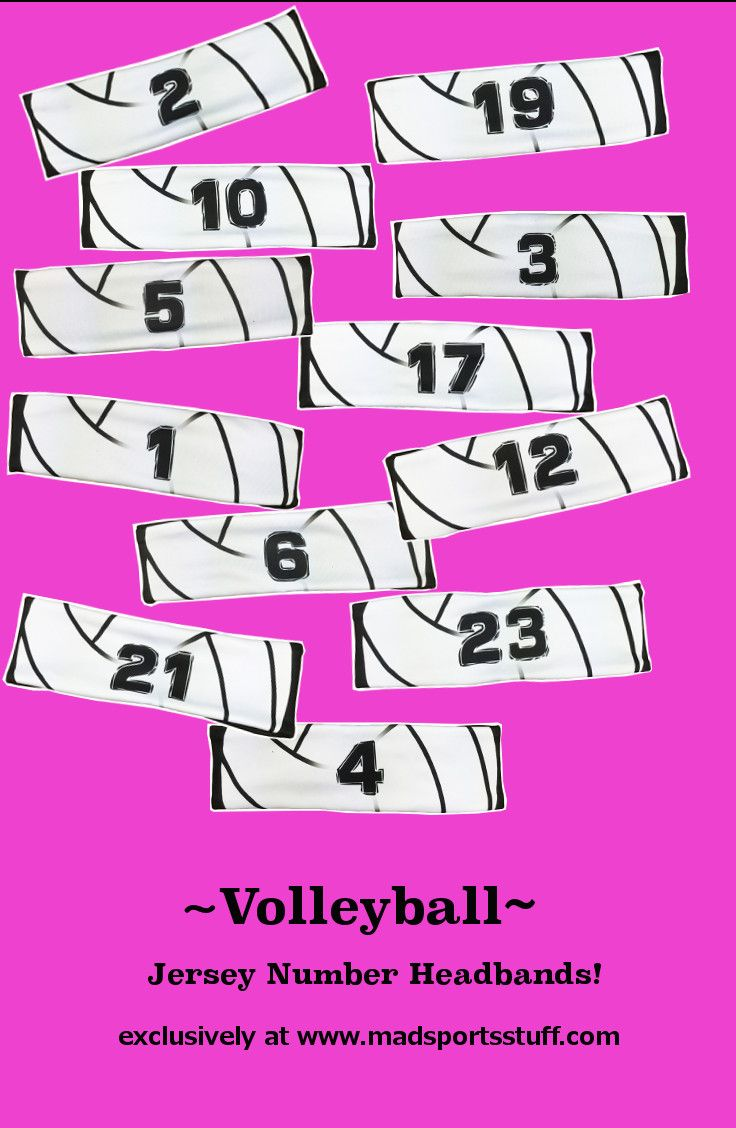 MadSportsStuff volleyball jersey headbands - a great team gift! www.madsportsstuff.com