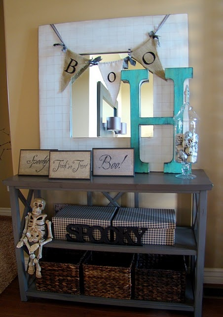 Halloween decorations: Halloween Decorations, Ideas, Big Letter, Boo, Holidays, Fickle Pickle, Crafty Season, Happy Halloween