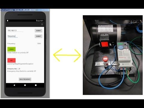 Developed an Android app to communicate the Allen Bradley