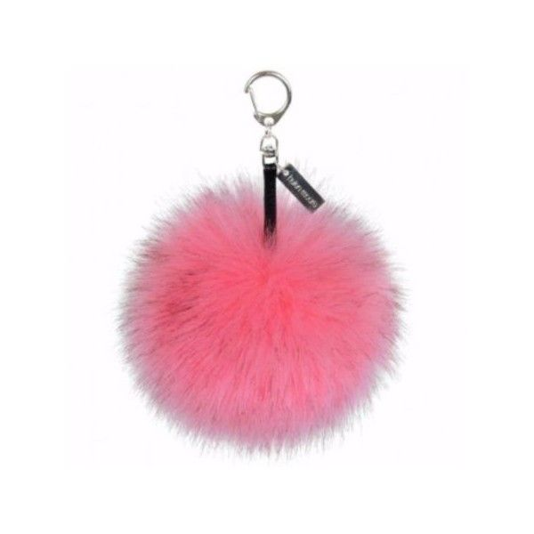 Helen Moore Pom Pom Keyring - Bubble Gum ($41) ❤ liked on Polyvore featuring accessories and pom pom key ring